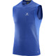 Salomon M's Trail Runner Sleeveless Tee surf the web/black